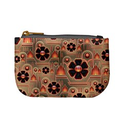 Background Floral Flower Stylised Mini Coin Purses