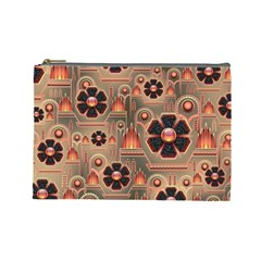 Background Floral Flower Stylised Cosmetic Bag (large)