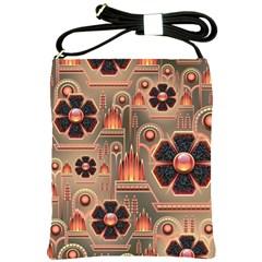 Background Floral Flower Stylised Shoulder Sling Bags