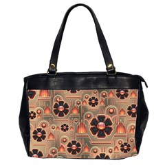 Background Floral Flower Stylised Office Handbags (2 Sides)