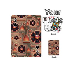 Background Floral Flower Stylised Playing Cards 54 (mini)