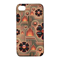 Background Floral Flower Stylised Apple Iphone 4/4s Hardshell Case With Stand