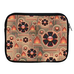 Background Floral Flower Stylised Apple Ipad 2/3/4 Zipper Cases