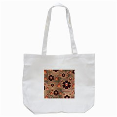 Background Floral Flower Stylised Tote Bag (white)