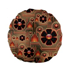 Background Floral Flower Stylised Standard 15  Premium Flano Round Cushions