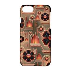 Background Floral Flower Stylised Apple Iphone 8 Hardshell Case
