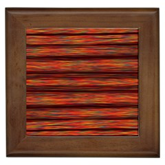 Colorful Abstract Background Strands Framed Tiles
