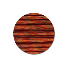 Colorful Abstract Background Strands Magnet 3  (round)