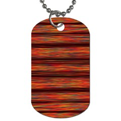 Colorful Abstract Background Strands Dog Tag (two Sides)