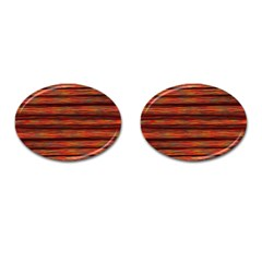 Colorful Abstract Background Strands Cufflinks (oval)