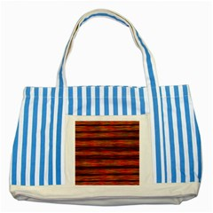 Colorful Abstract Background Strands Striped Blue Tote Bag