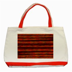 Colorful Abstract Background Strands Classic Tote Bag (red)