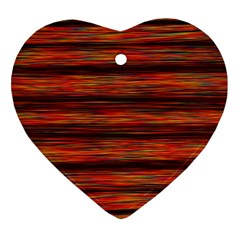 Colorful Abstract Background Strands Heart Ornament (two Sides)