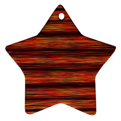 Colorful Abstract Background Strands Star Ornament (two Sides)
