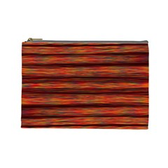 Colorful Abstract Background Strands Cosmetic Bag (large)