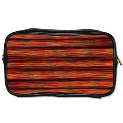 Colorful Abstract Background Strands Toiletries Bags 2 Side