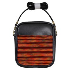 Colorful Abstract Background Strands Girls Sling Bags