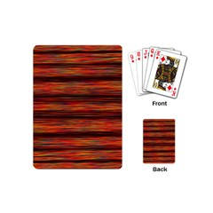 Colorful Abstract Background Strands Playing Cards (mini)