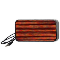 Colorful Abstract Background Strands Portable Speaker
