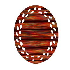 Colorful Abstract Background Strands Ornament (oval Filigree)