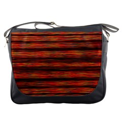 Colorful Abstract Background Strands Messenger Bags