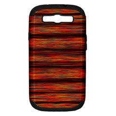 Colorful Abstract Background Strands Samsung Galaxy S Iii Hardshell Case (pc+silicone)