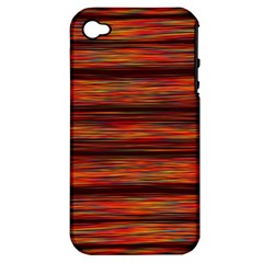 Colorful Abstract Background Strands Apple Iphone 4/4s Hardshell Case (pc+silicone)