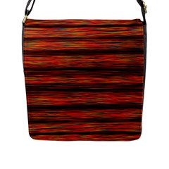 Colorful Abstract Background Strands Flap Messenger Bag (l)