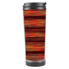 Colorful Abstract Background Strands Travel Tumbler