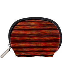 Colorful Abstract Background Strands Accessory Pouches (small)