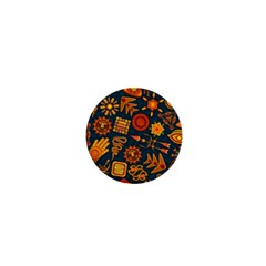 Pattern Background Ethnic Tribal 1  Mini Magnets