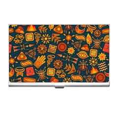 Pattern Background Ethnic Tribal Business Card Holders