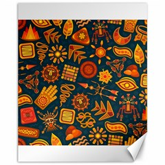 Pattern Background Ethnic Tribal Canvas 11  X 14