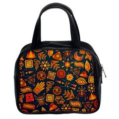 Pattern Background Ethnic Tribal Classic Handbags (2 Sides)