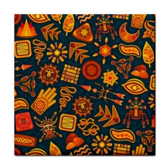 Pattern Background Ethnic Tribal Face Towel