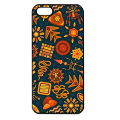 Pattern Background Ethnic Tribal Apple Iphone 5 Seamless Case (black)