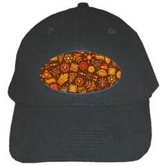 Pattern Background Ethnic Tribal Black Cap