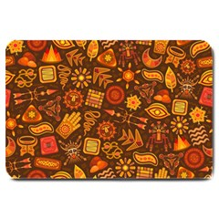 Pattern Background Ethnic Tribal Large Doormat