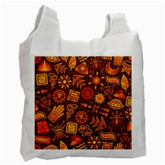 Pattern Background Ethnic Tribal Recycle Bag (two Side)