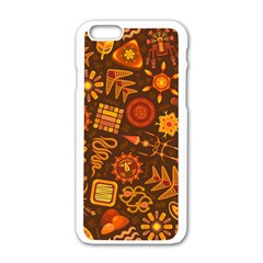 Pattern Background Ethnic Tribal Apple Iphone 6/6s White Enamel Case
