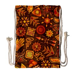 Pattern Background Ethnic Tribal Drawstring Bag (large)