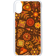 Pattern Background Ethnic Tribal Apple Iphone X Seamless Case (white)