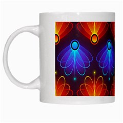 Background Colorful Abstract White Mugs