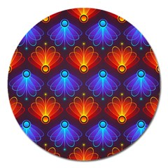 Background Colorful Abstract Magnet 5  (round)