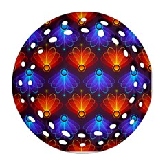 Background Colorful Abstract Round Filigree Ornament (two Sides)