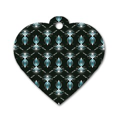 Seamless Pattern Background Dog Tag Heart (two Sides)