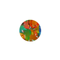 Background Colorful Abstract 1  Mini Magnets