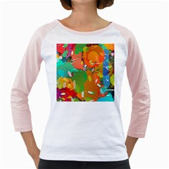 Background Colorful Abstract Girly Raglans