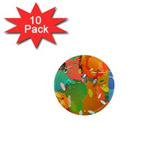 Background Colorful Abstract 1  Mini Magnet (10 Pack)