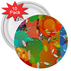 Background Colorful Abstract 3  Buttons (10 Pack)